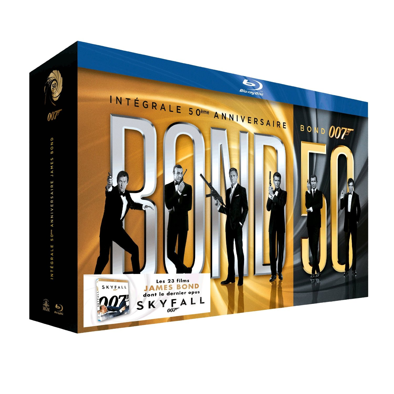 acheter james bond integrale 23 films coffret 23 blu ray dvd action aventure. Black Bedroom Furniture Sets. Home Design Ideas