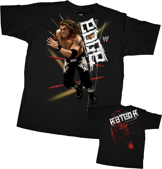 Chambre Garcon Vert Anis Et Gris : Acheter Wwe Catch Tshirt  Edge Rated R Spear  Taille Enfant Xl