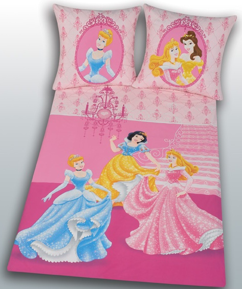 acheter housse de couette disney princess 140 x 200 et taie 70 x 90 figurine disney princesses. Black Bedroom Furniture Sets. Home Design Ideas
