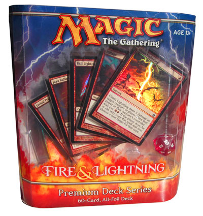 acheter magic the gathering fire and lightning premium deck series magic. Black Bedroom Furniture Sets. Home Design Ideas