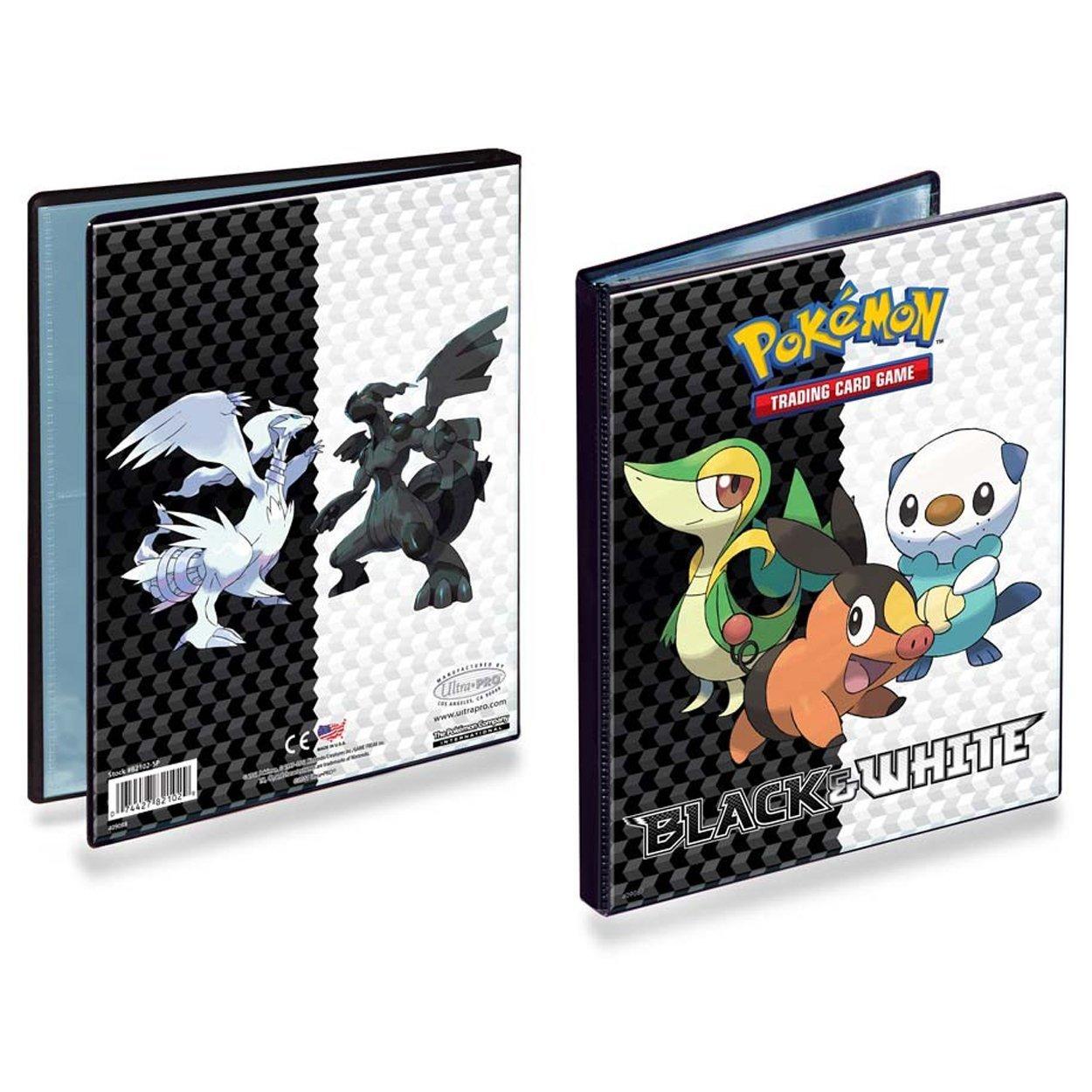 acheter pokemon cahier range cartes noir blanc gruikui 112 cartes accessoires. Black Bedroom Furniture Sets. Home Design Ideas