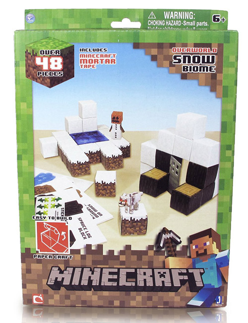 acheter minecraft construction papier 48 pieces snow biome loisirs cratifs. Black Bedroom Furniture Sets. Home Design Ideas