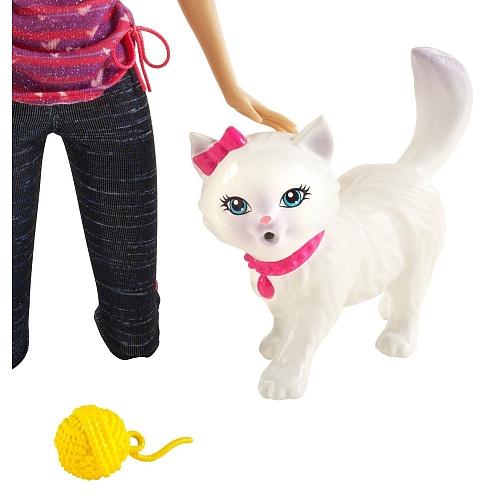 Acheter barbie poupee barbie et son chat blissa filles - Le chat de barbie ...