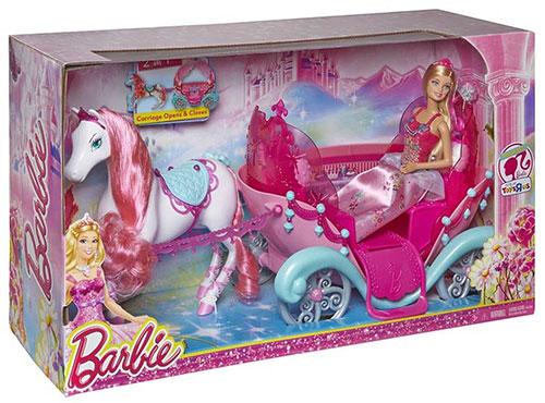 Acheter barbie carosse conte de fees filles - Barbie chevaux ...