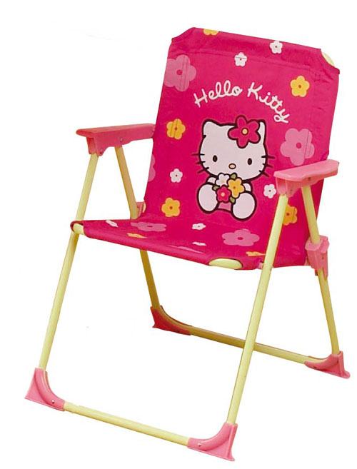 acheter hello kitty fleurs chaise de jardin hello kitty. Black Bedroom Furniture Sets. Home Design Ideas