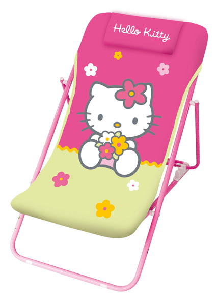 acheter hello kitty fleurs chaise longue hello kitty. Black Bedroom Furniture Sets. Home Design Ideas