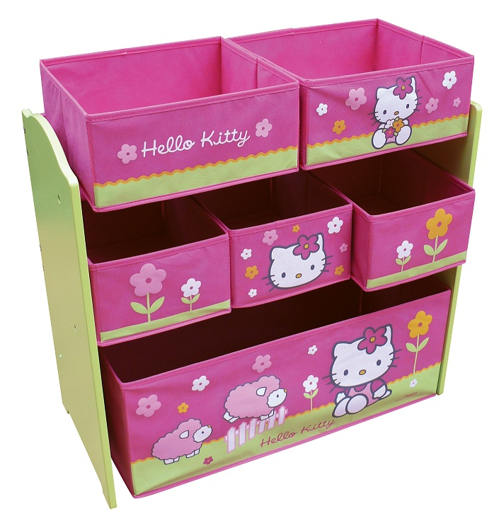 acheter hello kitty fleurs etagere de rangement hello kitty. Black Bedroom Furniture Sets. Home Design Ideas