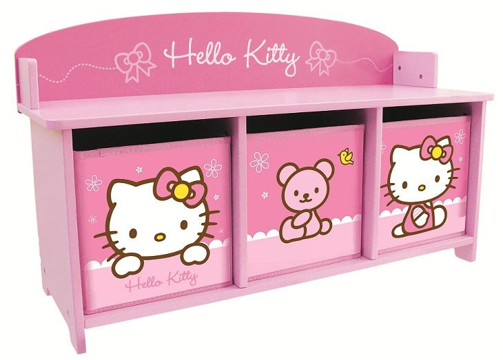 Acheter Hello Kitty Noeud Banc Et Bacs De Rangements Hello