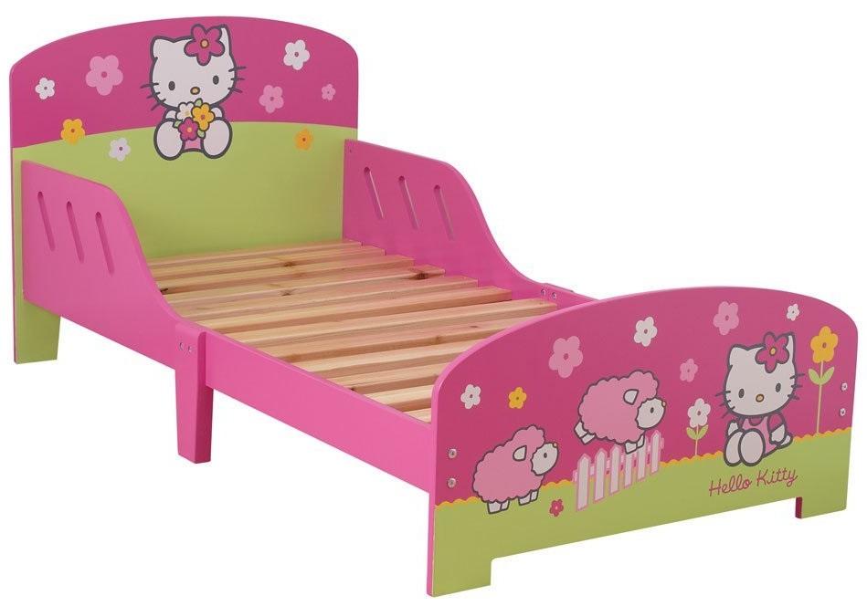 acheter hello kitty fleurs lit 140 x 70 hello kitty. Black Bedroom Furniture Sets. Home Design Ideas