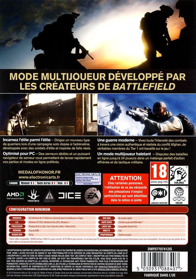 acheter medal of honor 2010 jeux vid o pc guerre fps. Black Bedroom Furniture Sets. Home Design Ideas