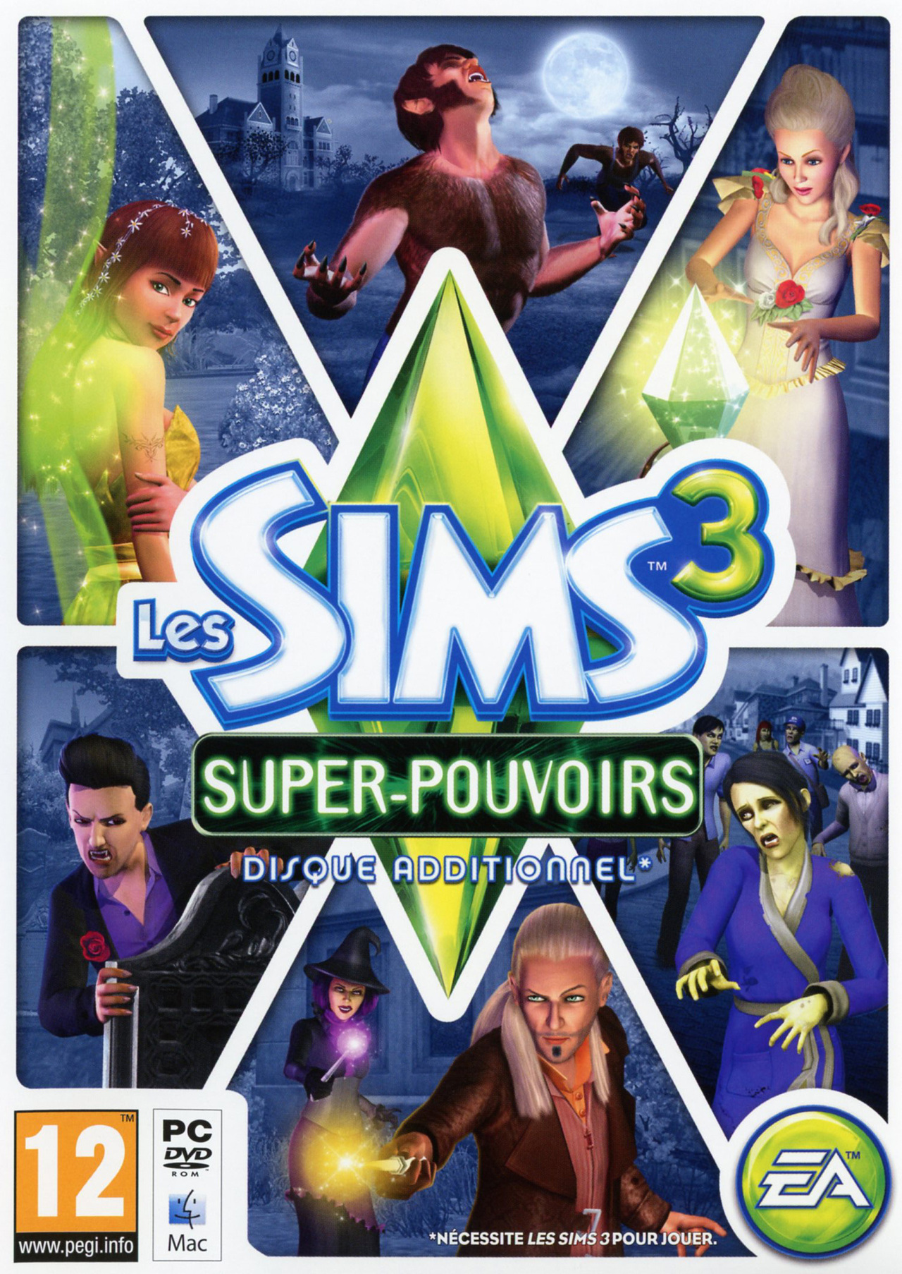 acheter les sims 3 supernatural code jeux vid o pc simulation. Black Bedroom Furniture Sets. Home Design Ideas