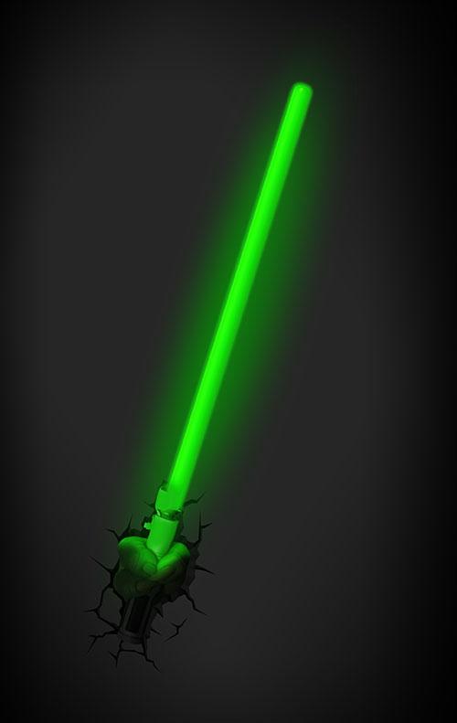 acheter end star wars 3d deco light sabre laser yoda. Black Bedroom Furniture Sets. Home Design Ideas