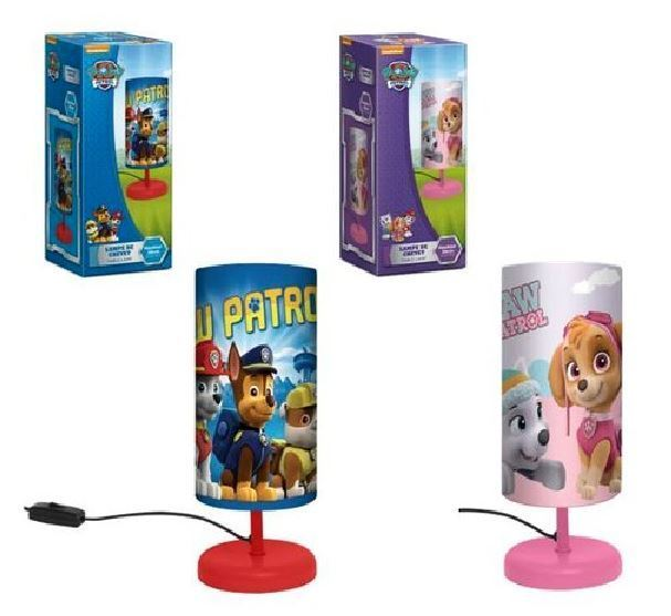 acheter chevet cylindre patrol de lampe rose bleue ou paw. Black Bedroom Furniture Sets. Home Design Ideas