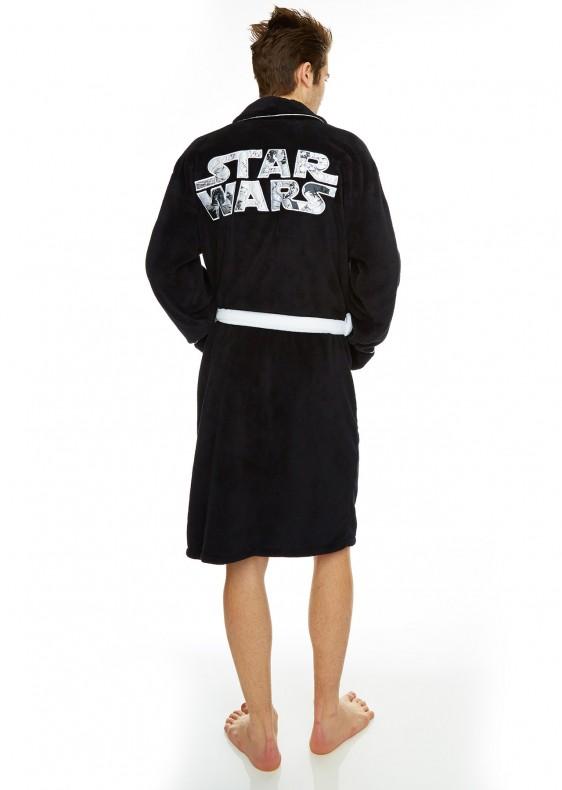 acheter star wars peignoir logo star wars adulte taille unique star wars. Black Bedroom Furniture Sets. Home Design Ideas